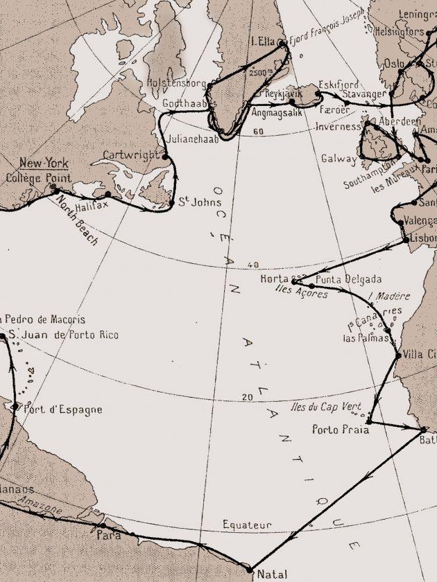 Mapa Charlesa Lindbergha