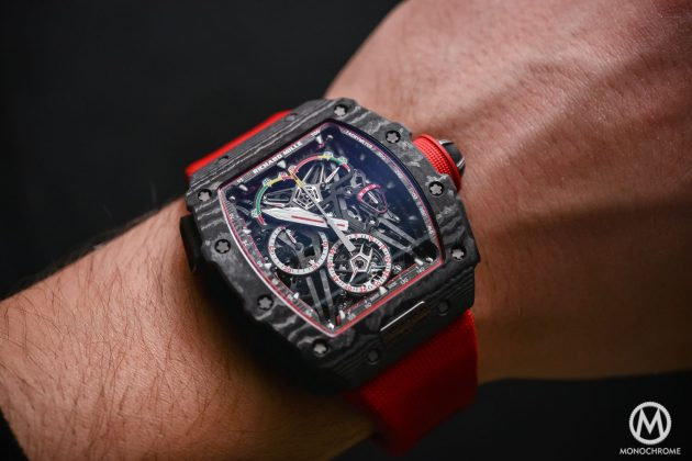 Richard Mille RM 50-03 Tourbillon Split Seconds Chronograph Ultralight McLaren F1 / foto: Monochrome-watches.com