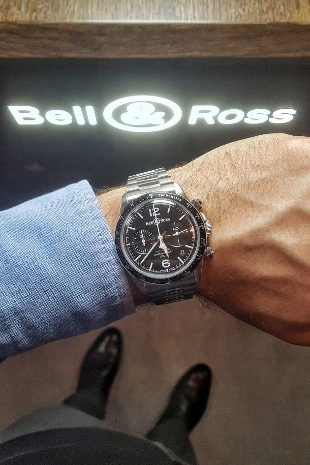 BR V2-94 Black Steel Chronograph