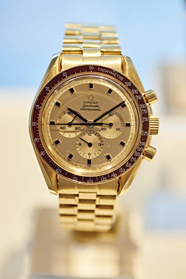 "Speedmaster ""Moonwatch"" in 18K Gold ""APOLLO 11 Commemorative Edition"" BA 145.022, 1969"