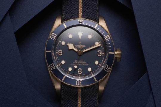 "Tudor Heritage Black Bay Bronze Blue ""Bucherer"""