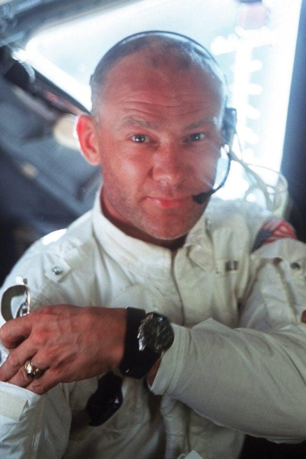 Buzz Aldrin z Omegą Speedmaster