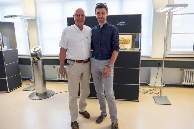 Ulrich Herzog (CEO Oris) i Tomasz Kiełtyka