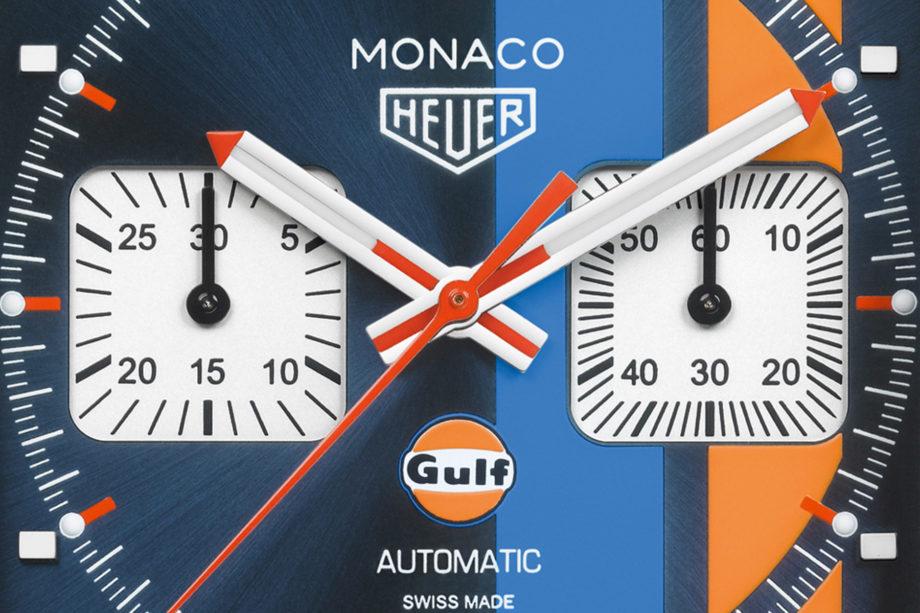 TAG Heuer Monaco Gulf - tarcza