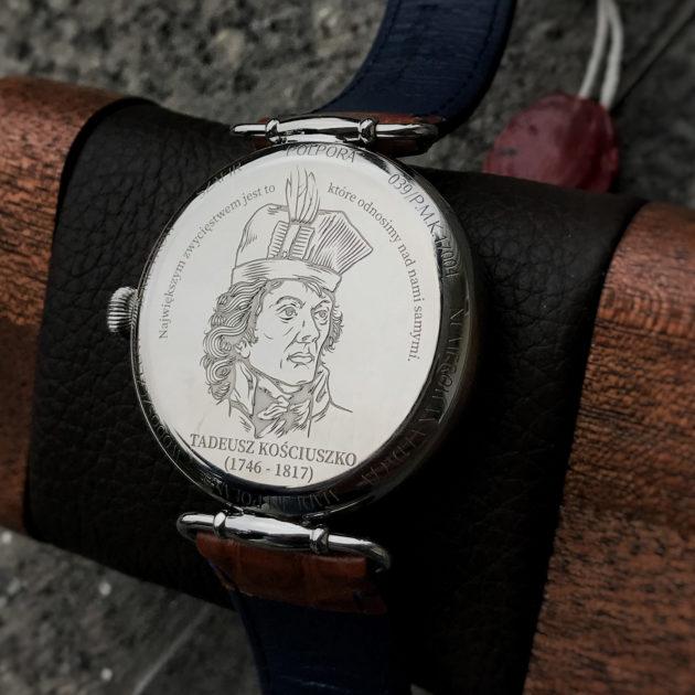 Polpora Kościuszko - dekiel zegarka