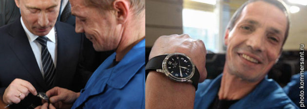 Vladimir Putin and his watches / photo: YouTube screenshot