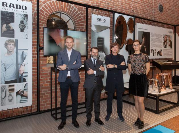 (od lewej): Marek Lis (Rado), Carlos Cardenas (Rado), Oskar Zięta, Helena Szczuka (Rado)