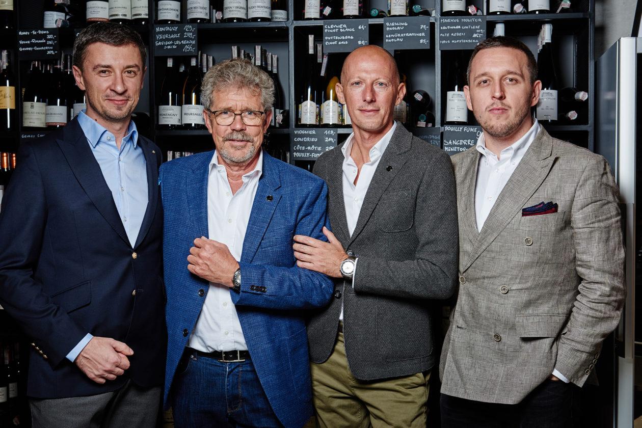 (od lewej): Tomasz Kiełtyka, Jean-Marc Widderrecht, Marco Borraccino, Łukasz Doskocz