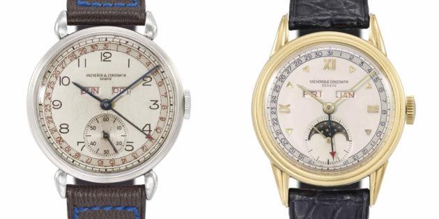 Vacheron Constantin 1942 (po lewej) i 1948 / foto: monochrome-watches.com