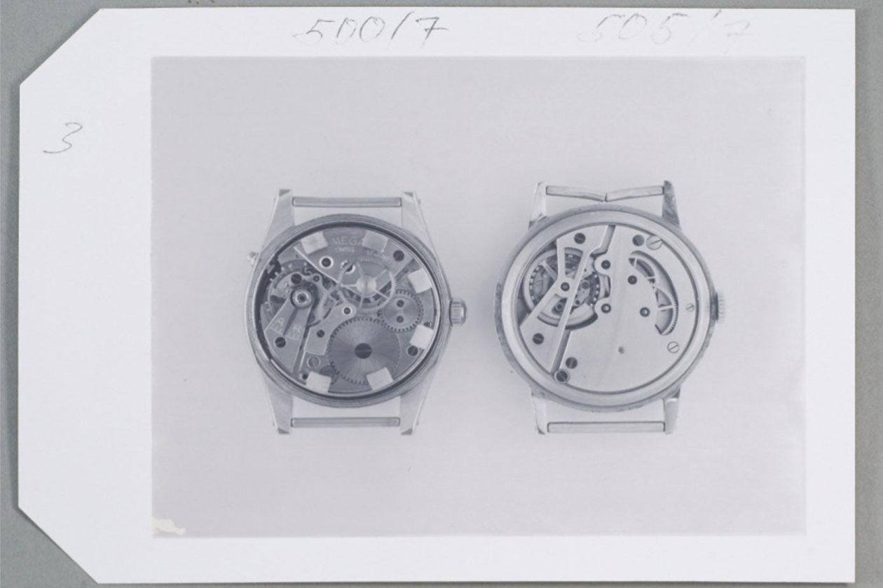 Zdjęcia z muzeum Omegi dokumentujące zegarek