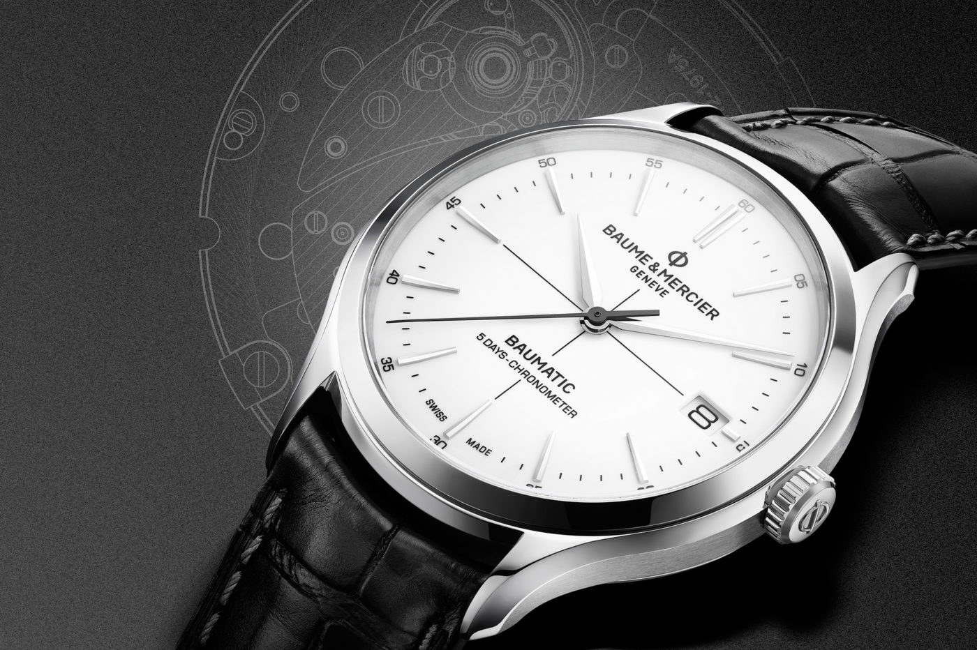 Baume & Mercier Clifton Baumatic – zegarek z mechanizmem in-house i certyfikatem COSC – SIHH 2018 [cena]