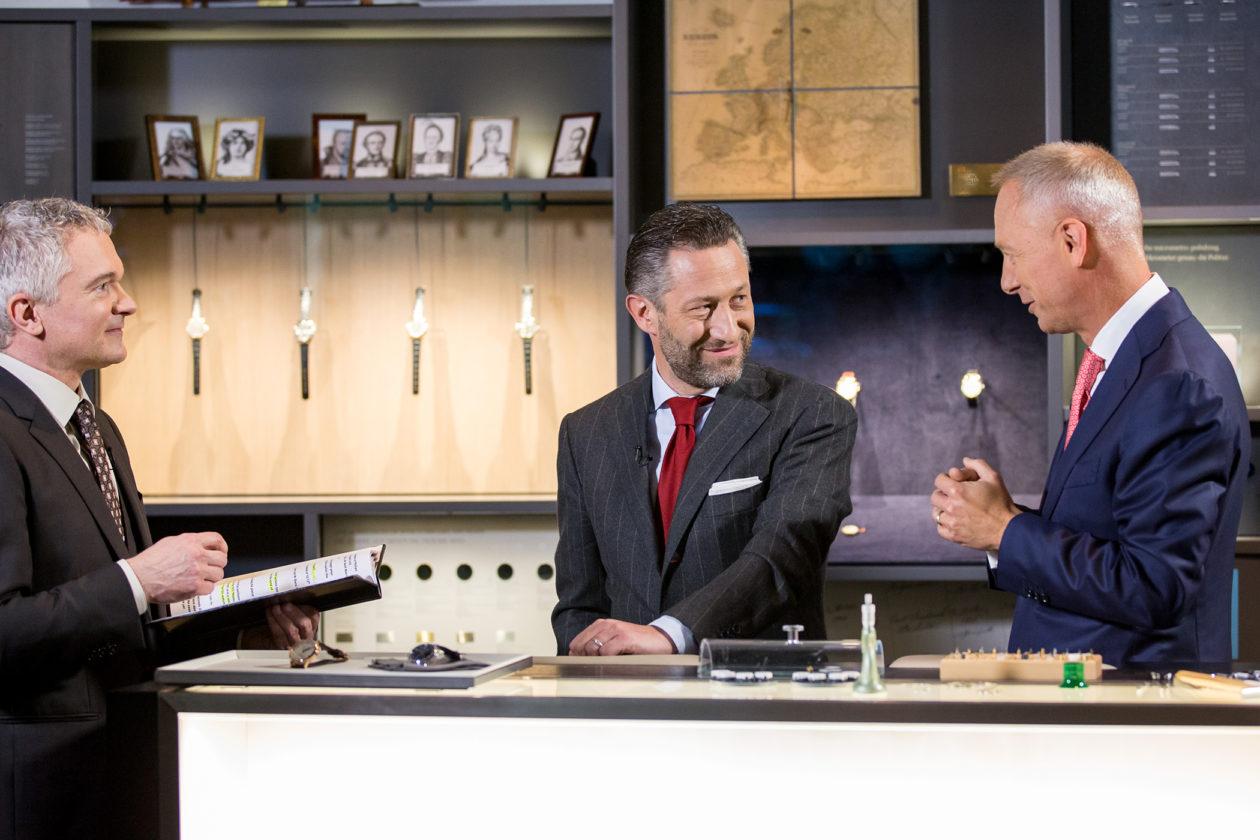 Aurel Bacs (drugi od lewej) i Wilhelm Schmid (CEO Lange)