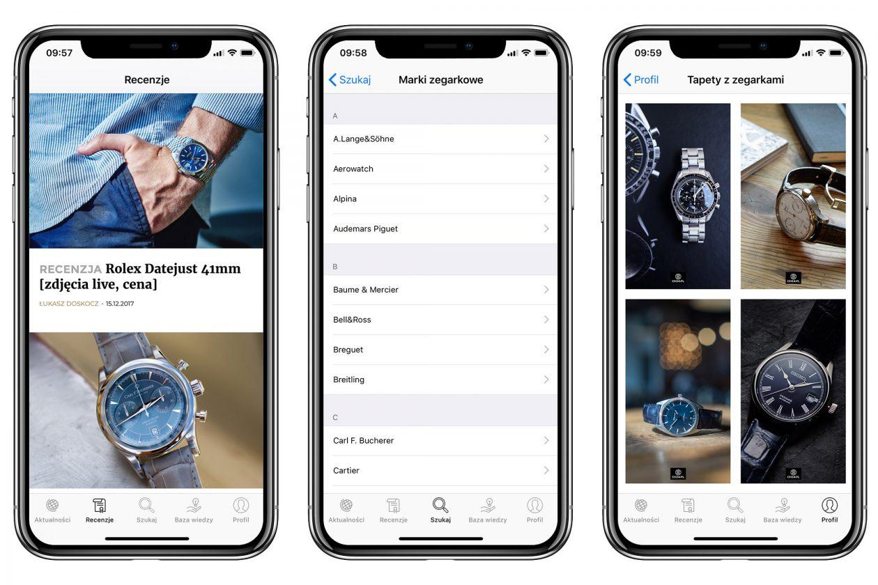Aplikacja mobilna dla miłośników zegarków - CH24.PL