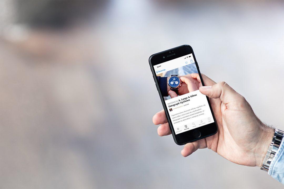 Recenzje zegarków w aplikacji mobilnej CH24.PL