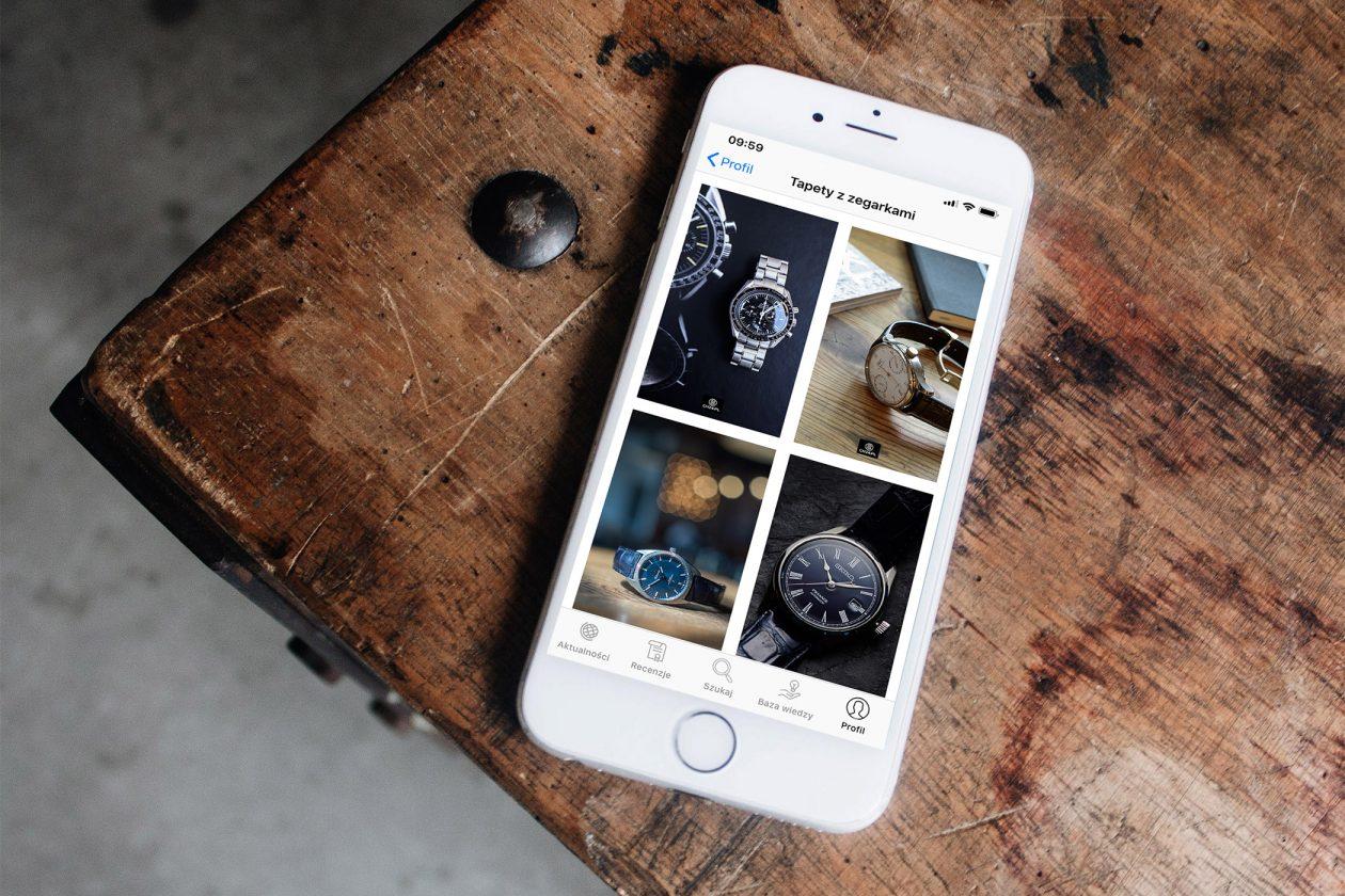 Tapety ze zdjęciami zegarków w aplikacji na iPhone'a