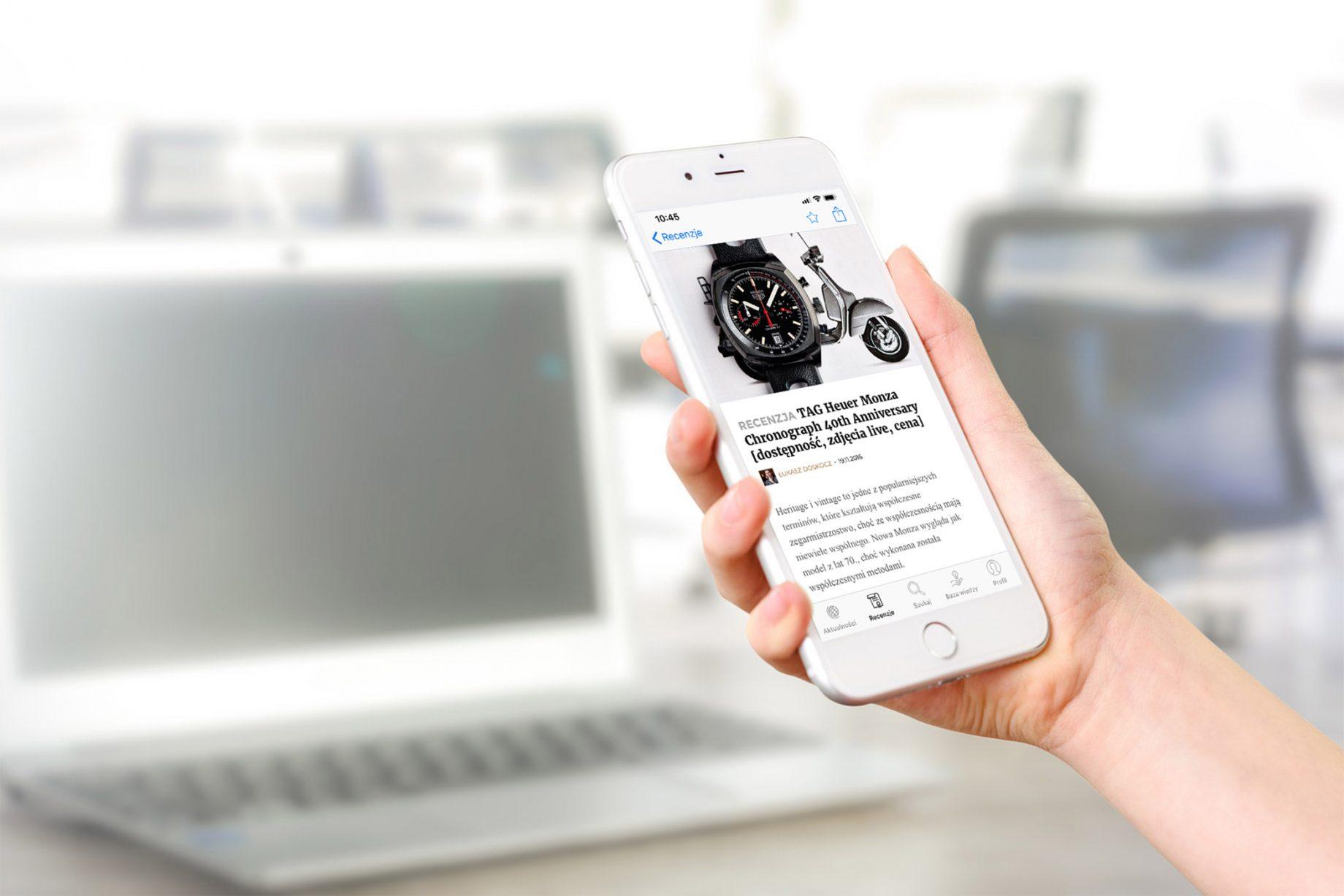 Artykuły o zegarkach w aplikacji mobilnej CH24.PL