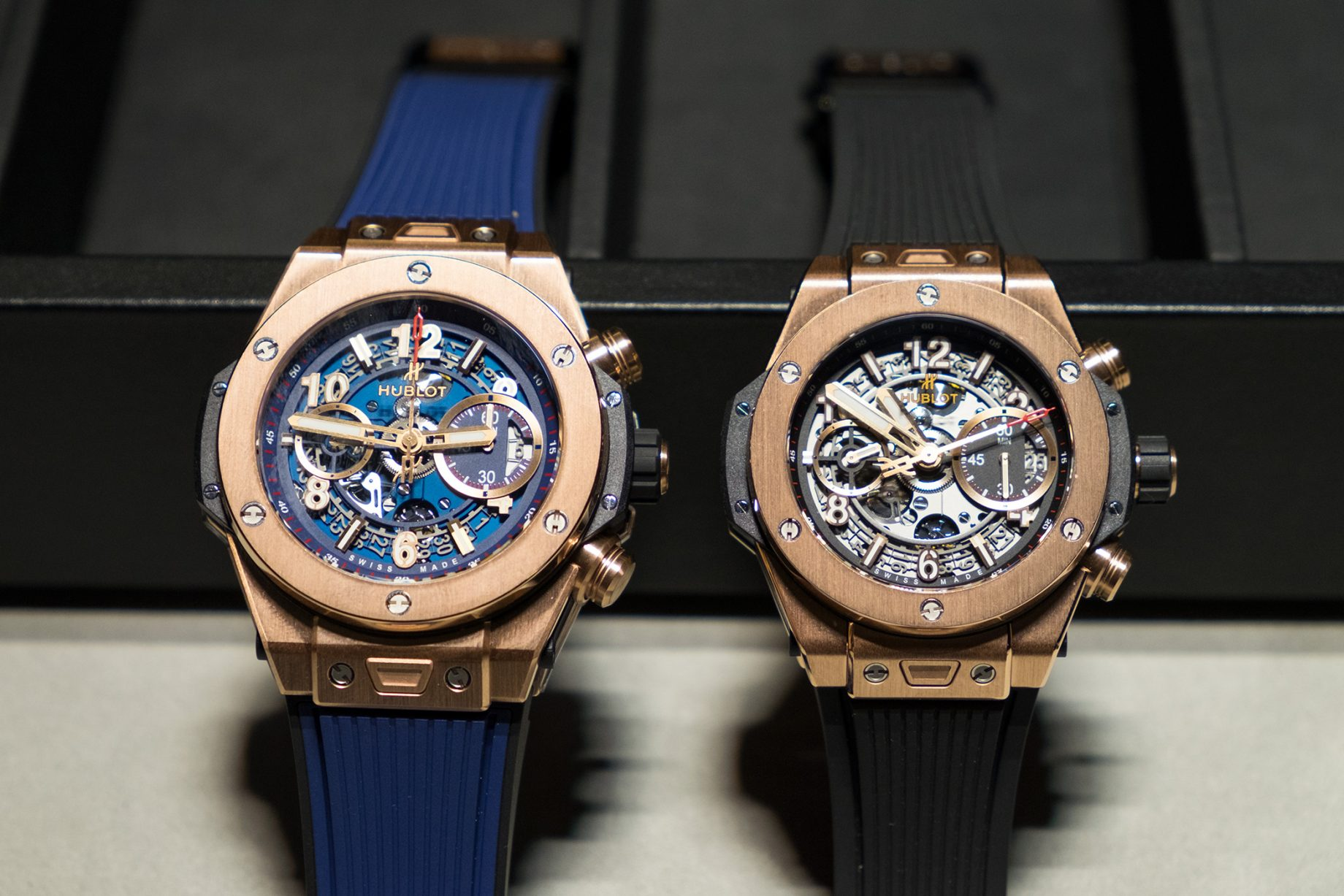 Hublot Big Bang Unico: wersja 45mm (po lewej) i 42mm