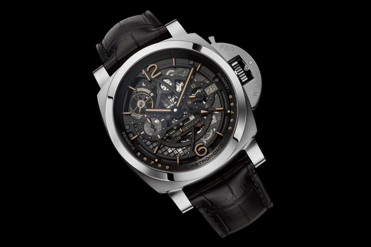 Panerai L'Astronomo Luminor 1950 Tourbillon Moon Phase Equation of Time GMT