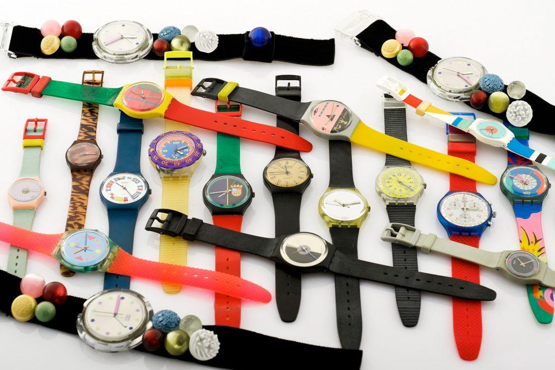 Zegarki Swatch z lat 90. XX w. / foto: Antiquorum
