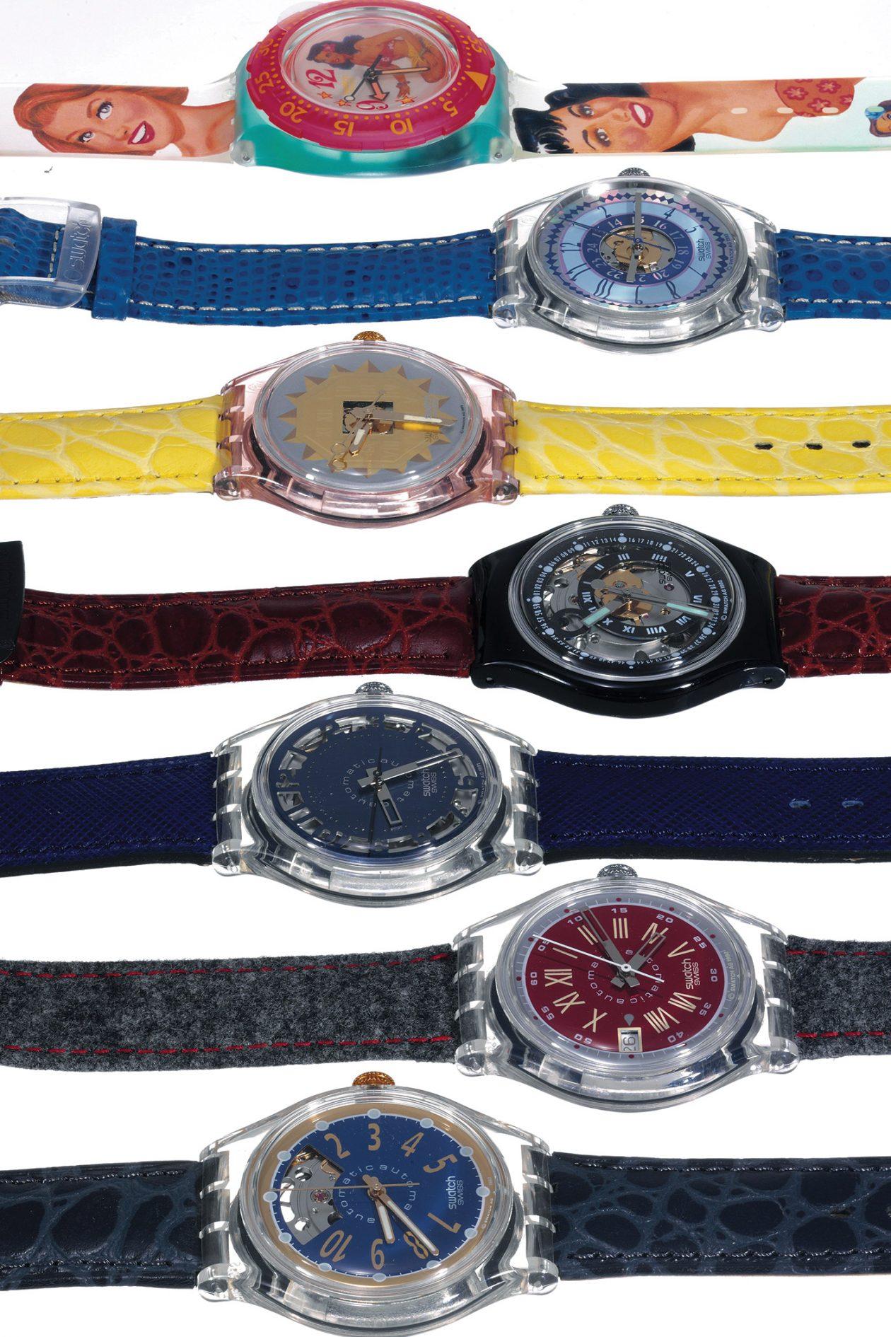 Kolekcja zegarków Swatch / foto: Antiquorum