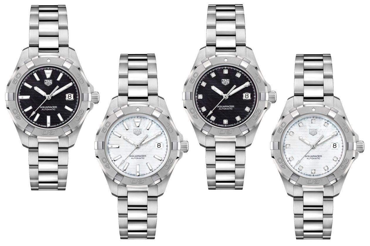 Warianty zegarka TAG Heuer Aquaracer Lady Calibre 9