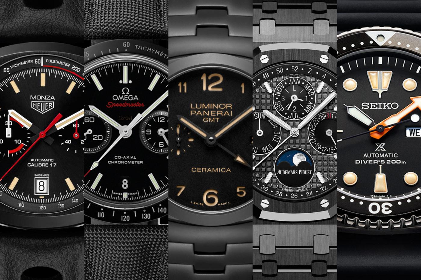 """TOP5: zegarki """"All-black"""", całe na czarno"""