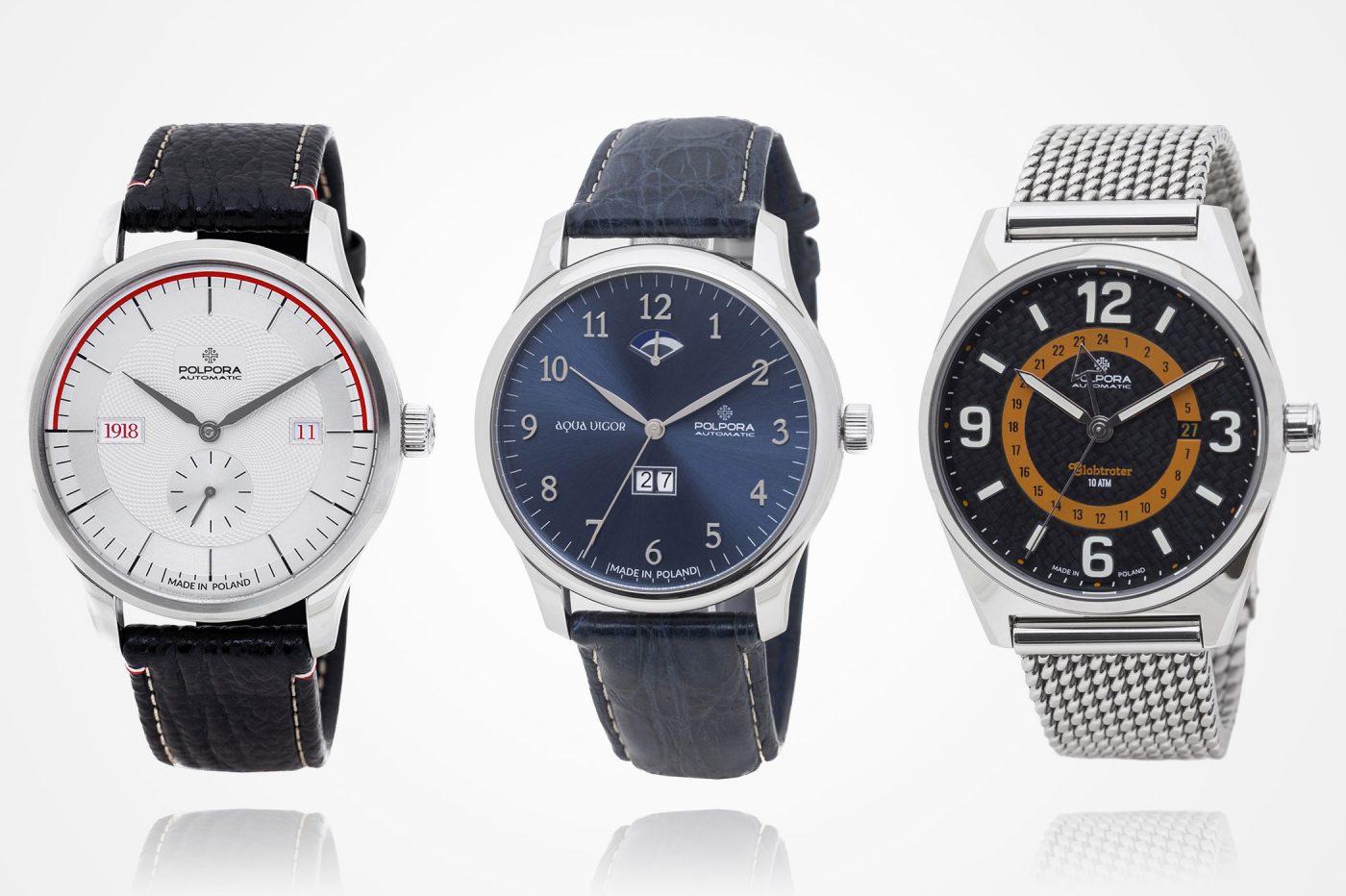 Polpora – premiera zegarków 1918, Aqua Vigor i Globtroter [cena]