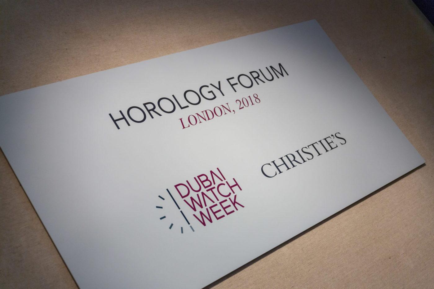 Horology Forum 2018