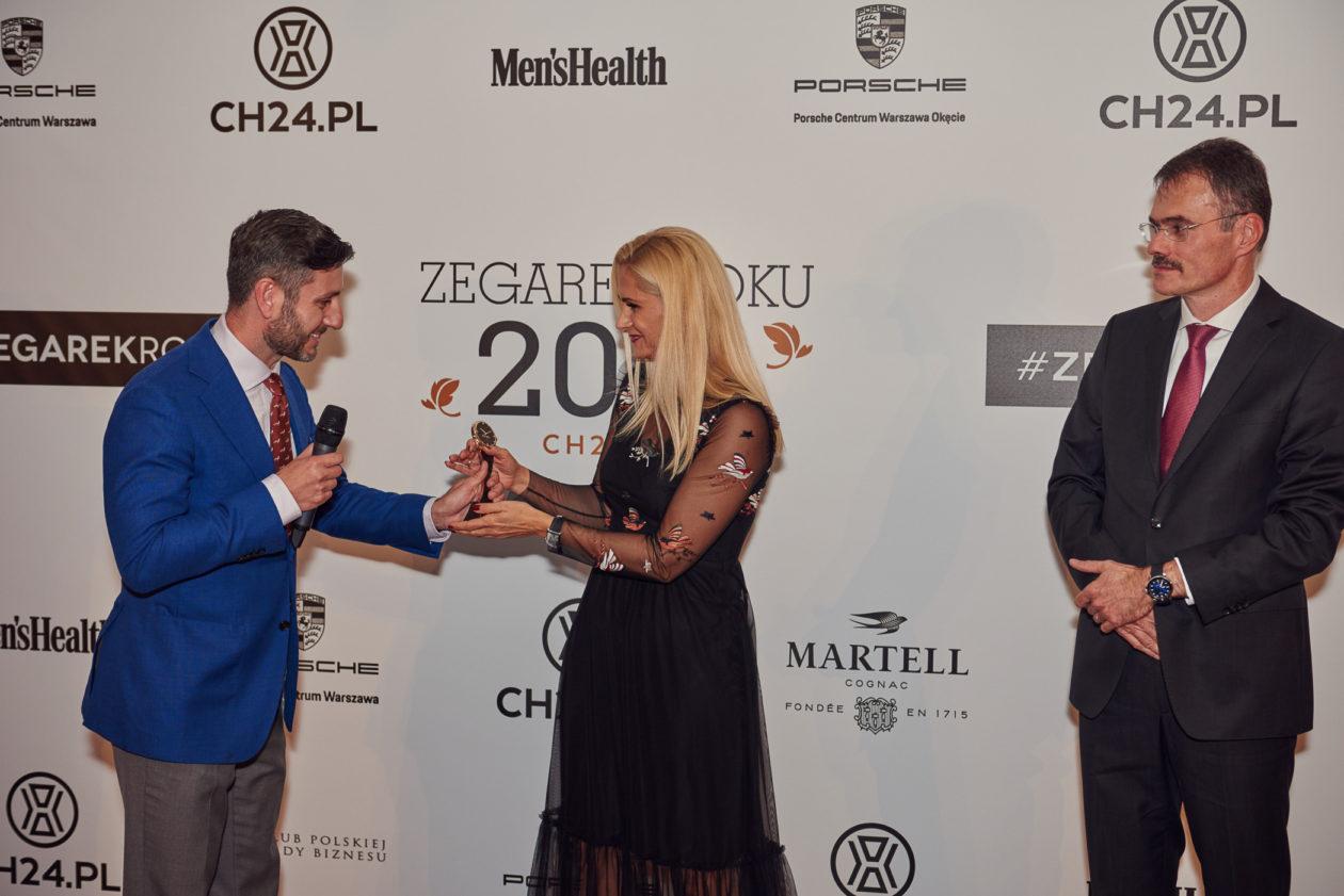 Jakub Filip Szymaniak, Agnieszka Ławniczak (Brand Manager Tissot) i Daniel Niklaus (CFO Tissot)
