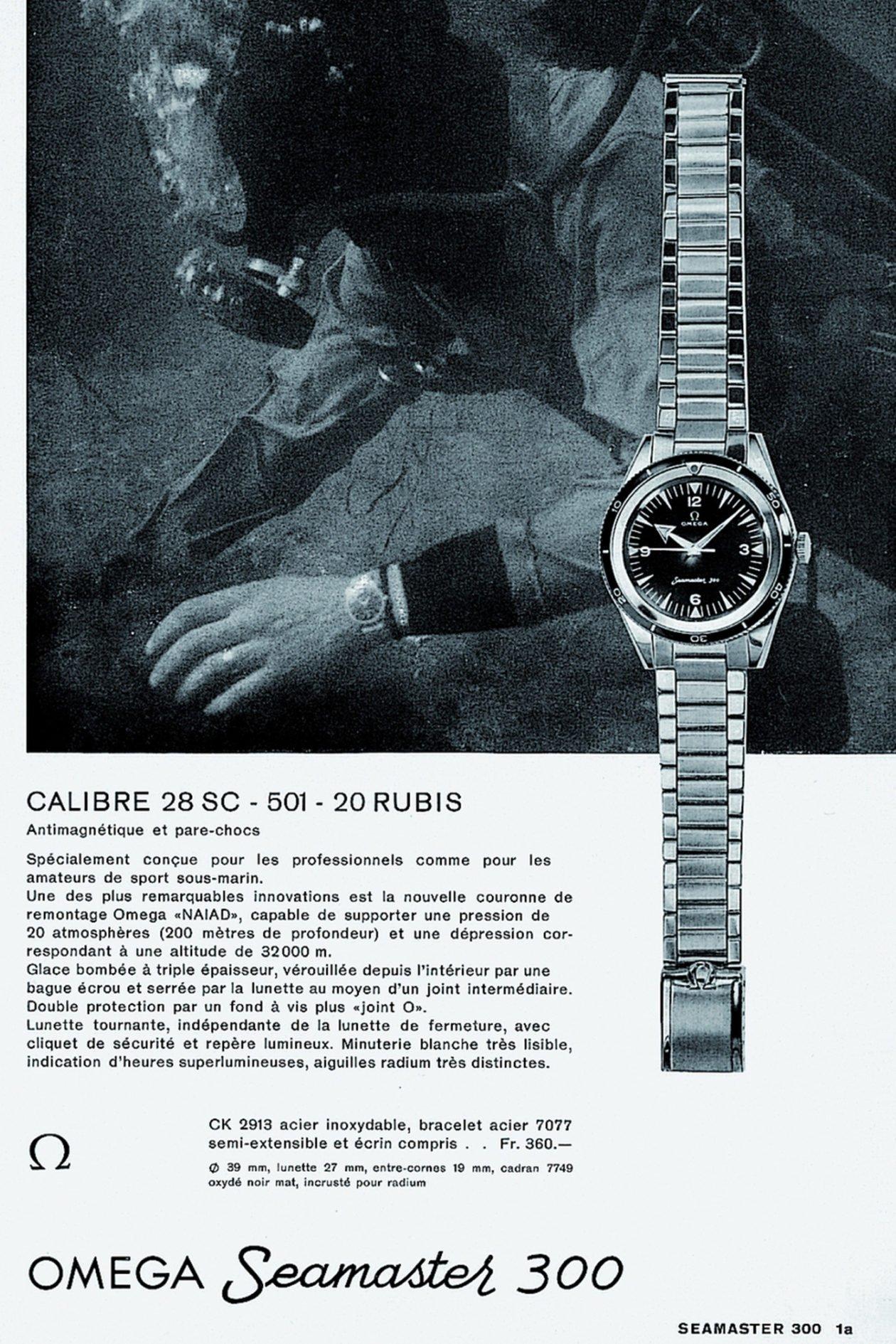 Omega Seamaster 300 - reklama z 1958 roku