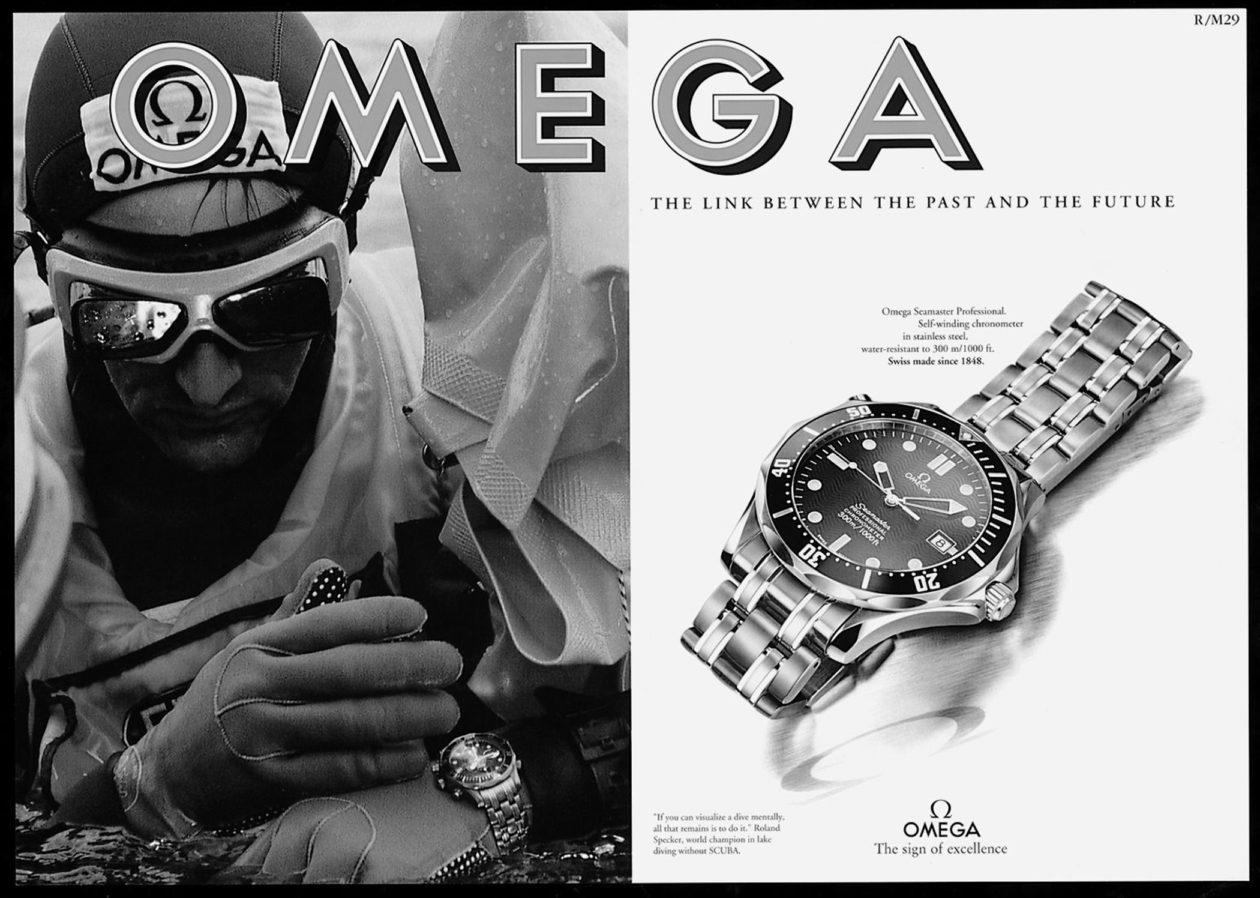 Reklama Omegi Seamaster z 1993 roku