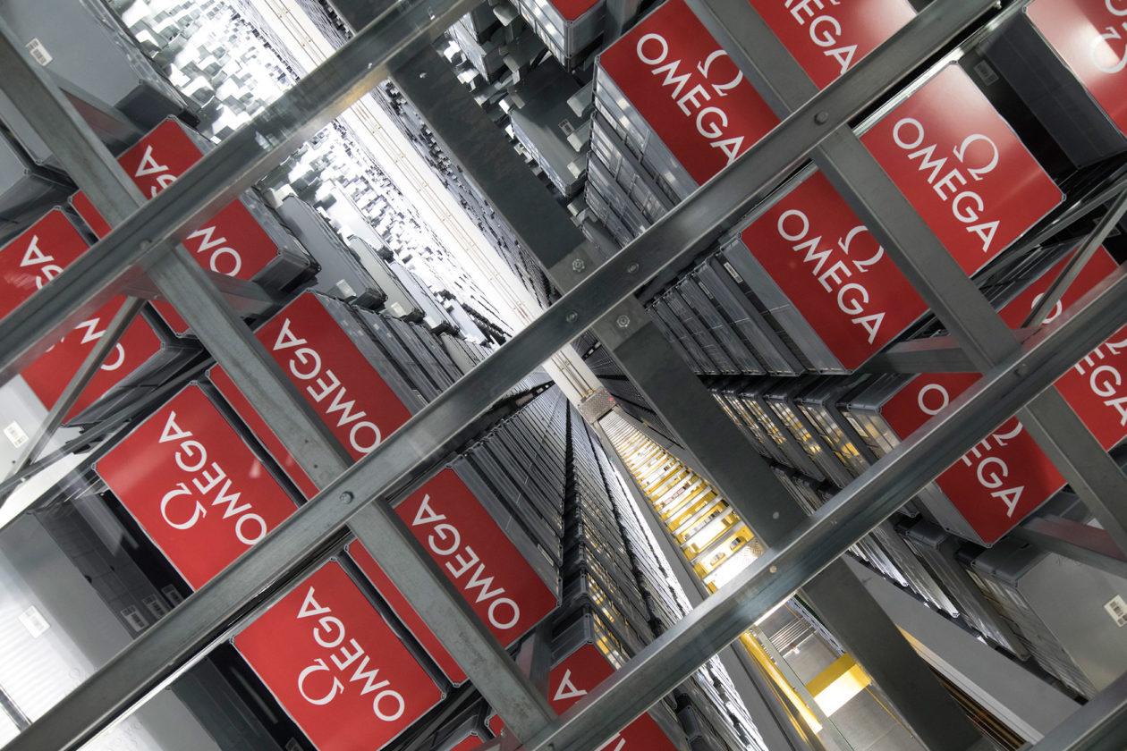 Magazyn w nowym budynku Omegi w Bienne