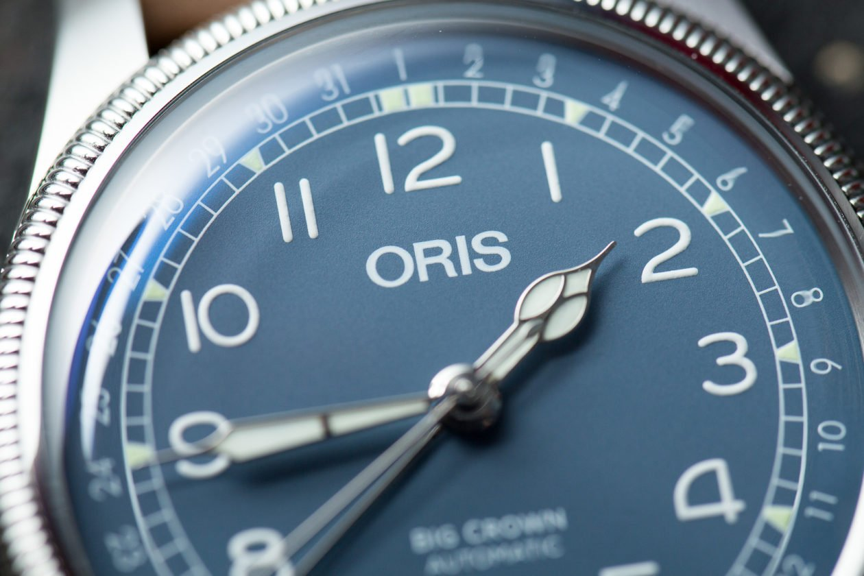 """Oris Big Crown Pointer Date ze wskazówką godzinową typu """"bee"""""""