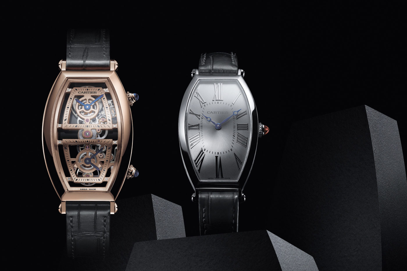 Cartier Privé Tonneau Large oraz XL Dual Time Skeleton – SIHH 2019