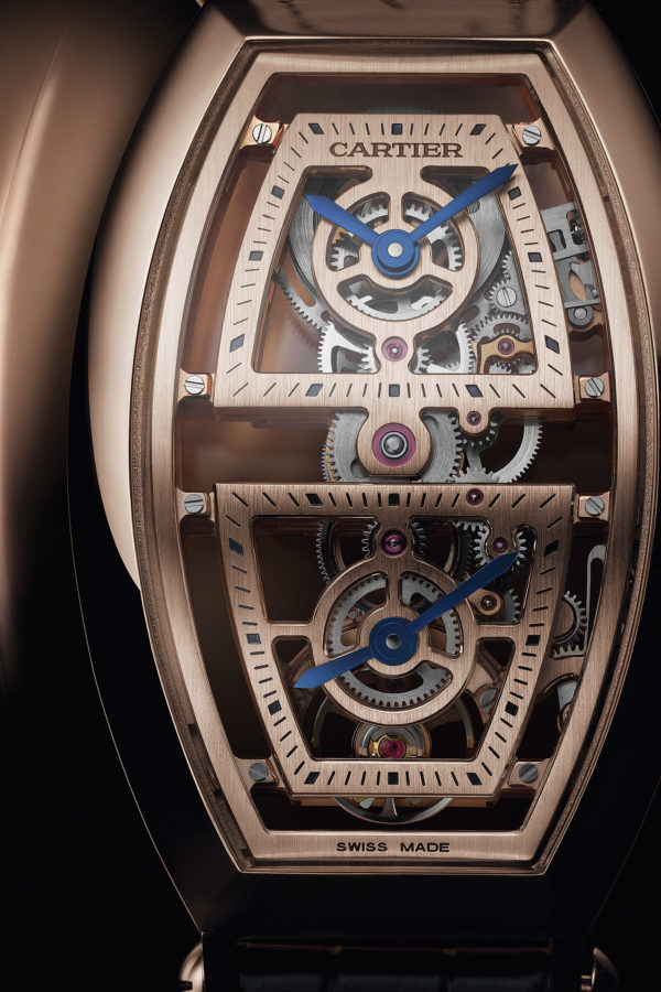 Cartier Privé Tonneau XL Dual Time Skeleton