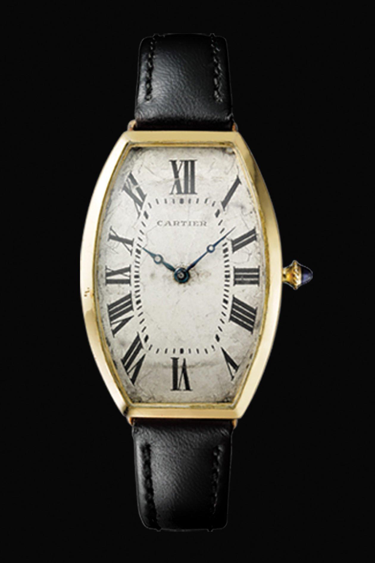 Cartier Tonneau z 1908 roku