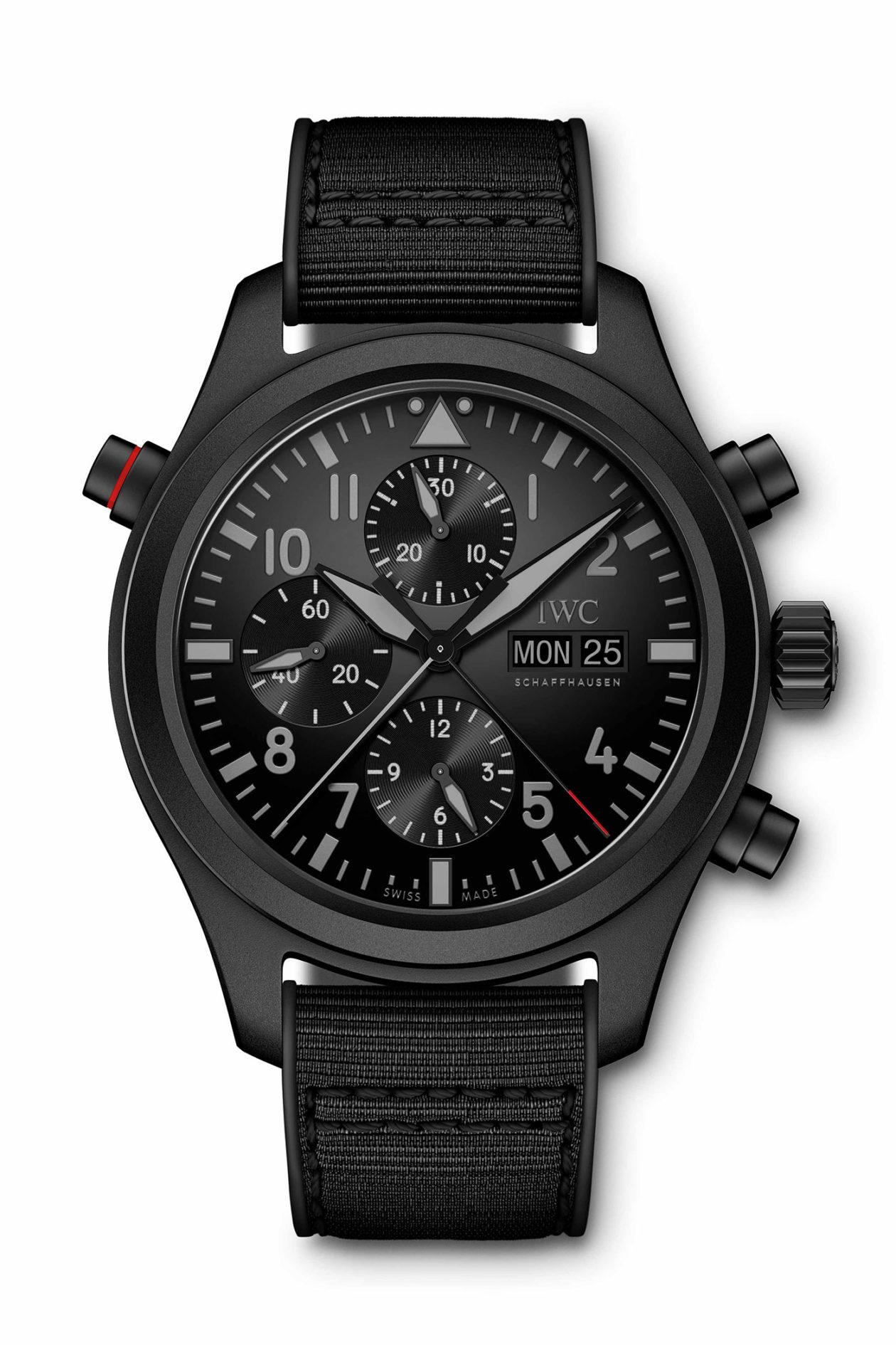 IWC Pilot's Watch Double Chronograph TOP GUN Ceratenium