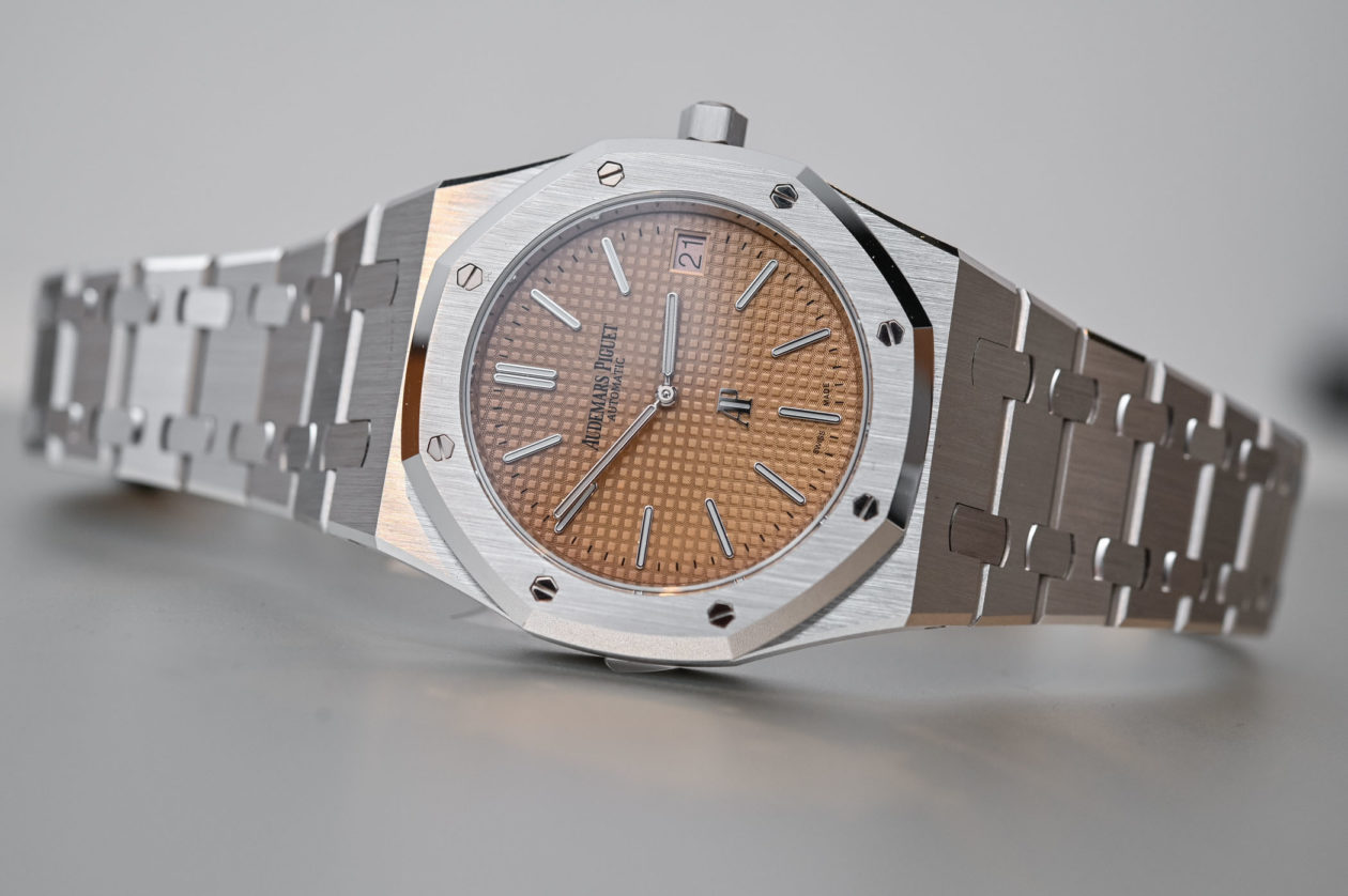 "Audemars Piguet Royal Oak Extra-Thin ""Jumbo"" Salmon Dial / foto: Monochrome-watches"
