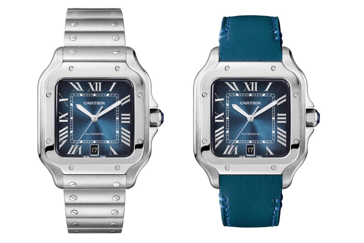 Cartier Santos Gradient Blue Dial