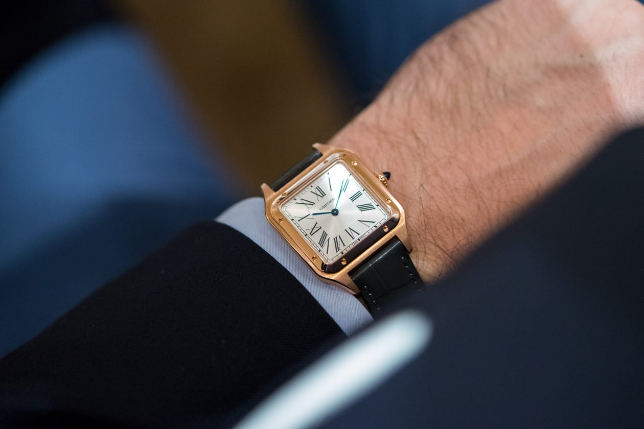 Cartier Santos Dumont z kwarcowym mechanizmem