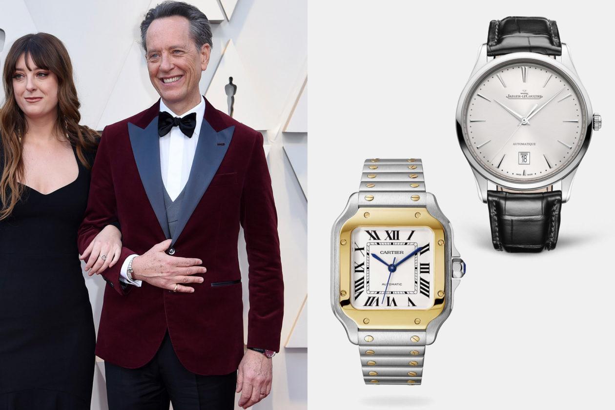 Richard E. Grant z zegarkami Jaeger-LeCoultre i Cartier