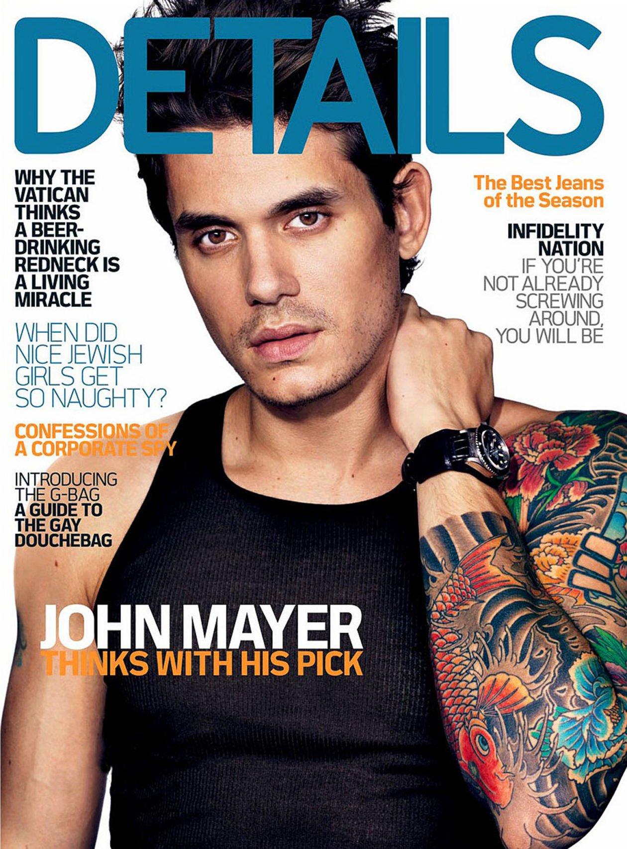 John Mayer na okładce magazynu Details
