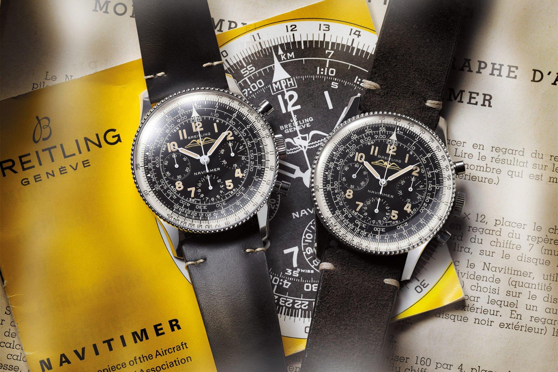 Breitling Navitimer: oryginał (po prawej) i Ref. 806 1959 Re-edition
