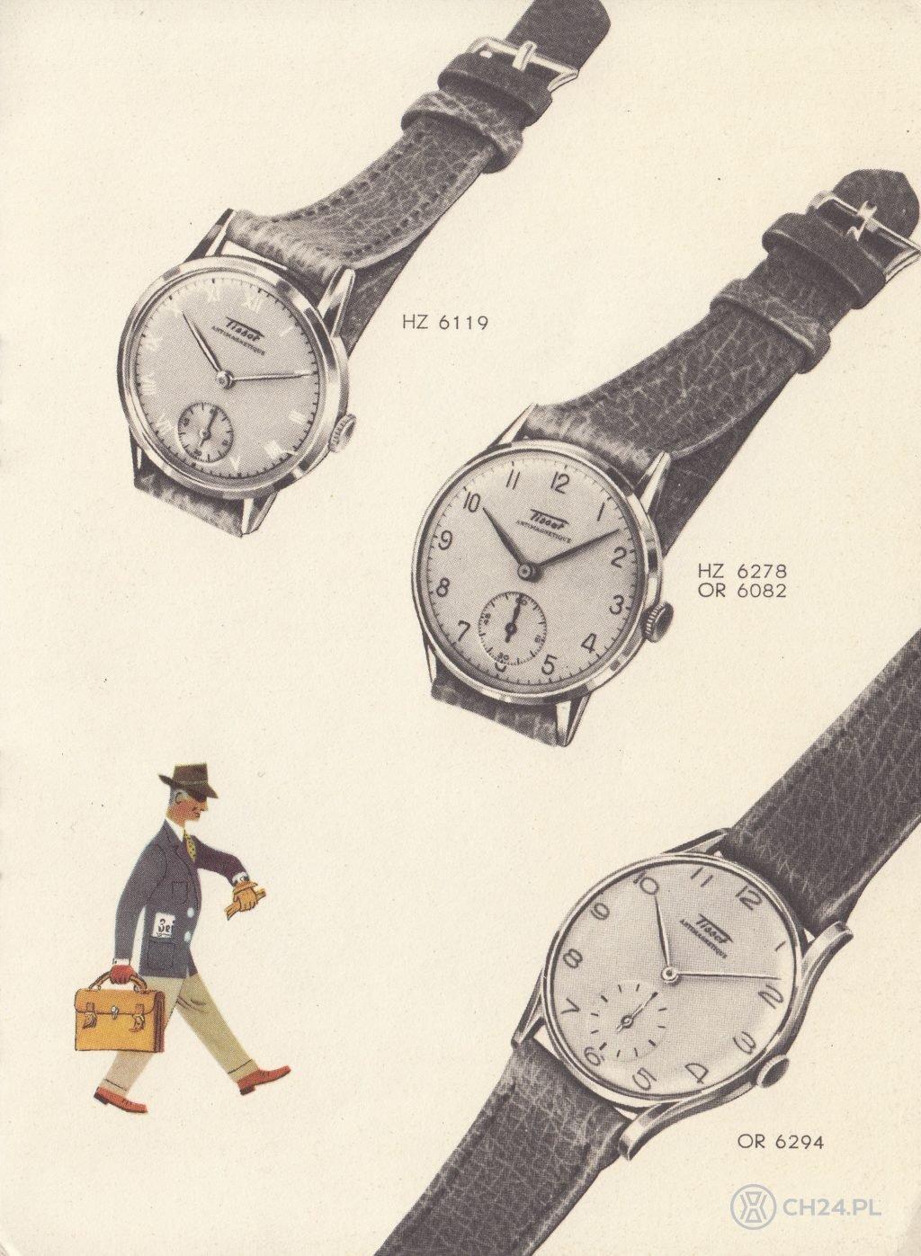 oryginalny Tissot Antimagnetique z roku 1943 (w środku) / foto: Fratellowatches.com