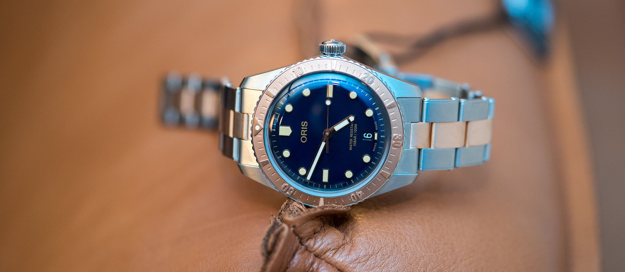 Oris Divers Sixty-Five bi-color