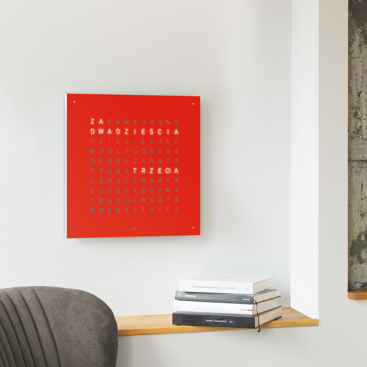QLOCKTWO® Classic Red Pepper