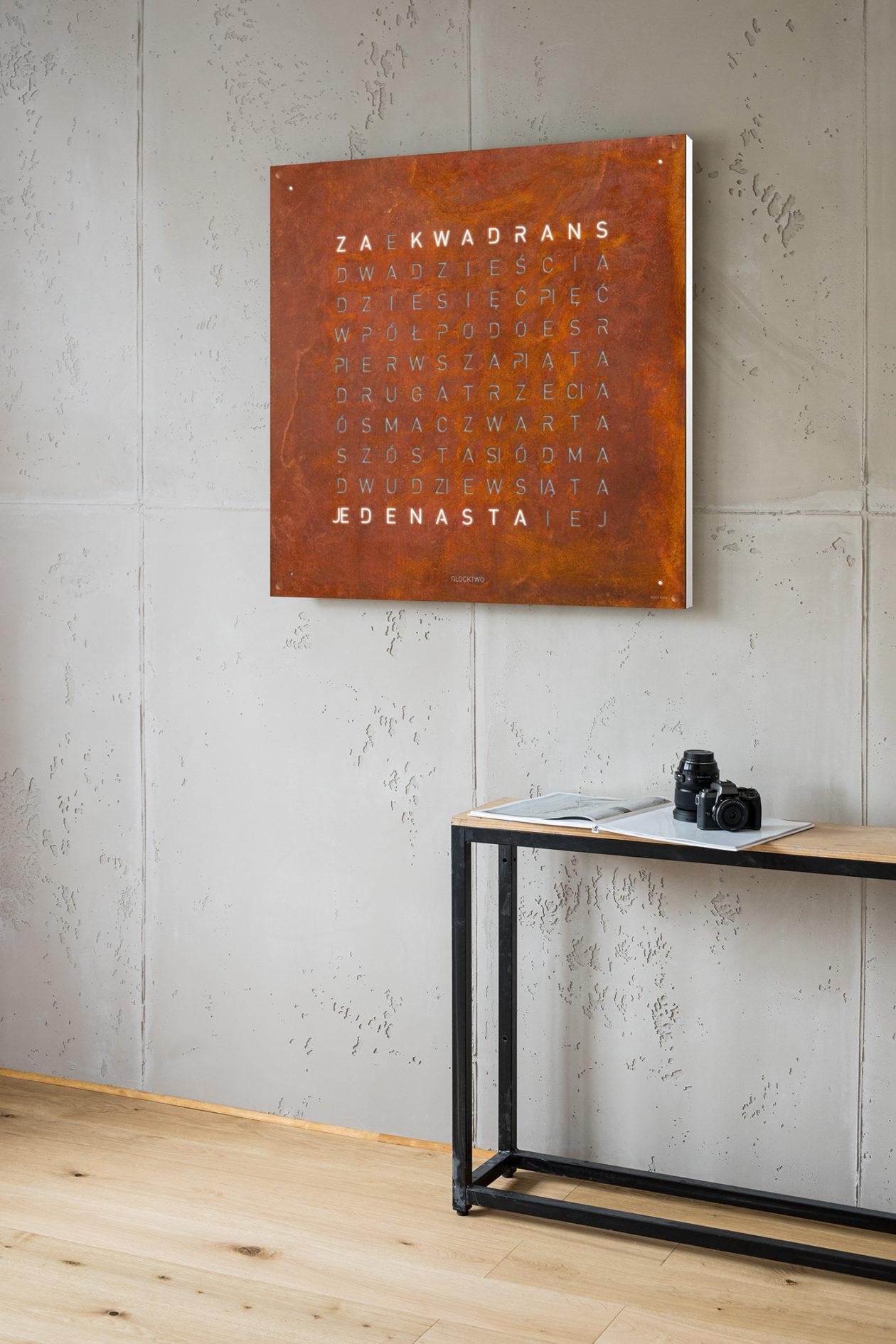 QLOCKTWO® Large Rust
