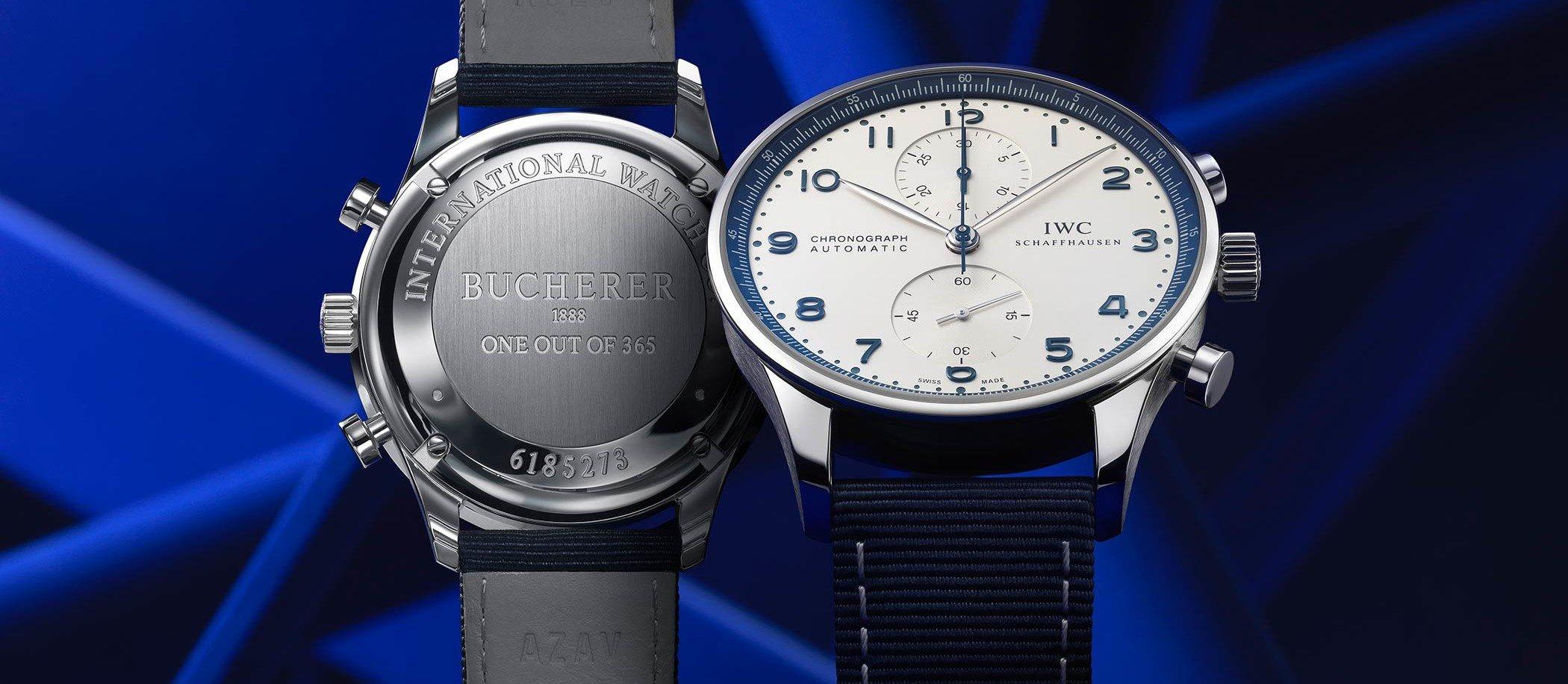 "IWC Portugieser Chronograph ""Bucherer Blue"""