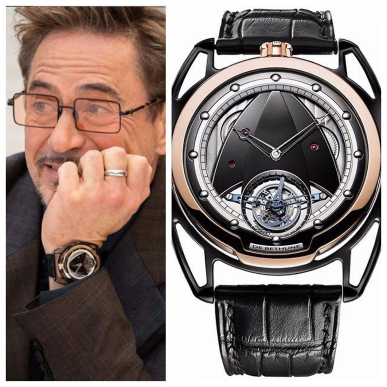 Robert Downey Jr. and De Bethune / photo: forbes.com