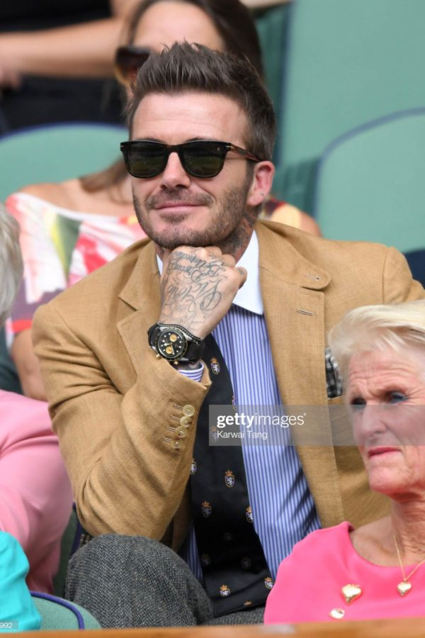 David Beckham i Tudor Black Bay Chrono S&G / foto: gettyimages.com